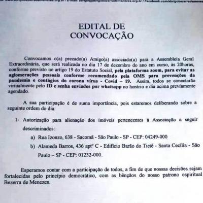 Edital Convocação Assembleia Extraordinaria.